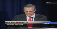 Thumbnail for On 9/10/2001 Donald Rumsfeld announced the Pentagon had $2.3 TRILLION unaccounted for. The very next day the 9/11 attacks occurred. On that day the world changed and in the rush to fund the war on terror, the investigation into the missing $2.3 TRILLION dollars was forgotten.