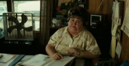 Thumbnail for In the movie No Country for Old Men the only person who Evil stood down to was the obese secretary that told him to fuck off. She STOOD HER GROUND