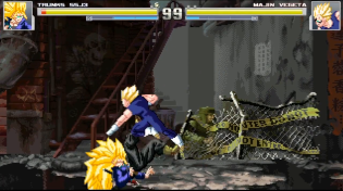Thumbnail for Trunks (Super Saiyan 3) vs Majin Vegeta - MUGEN (Gameplay) S2 • E25