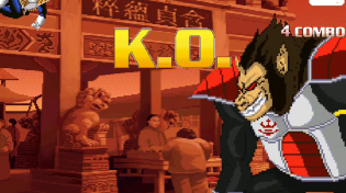 Thumbnail for Great Ape King Vegeta vs Vegeta (Scouter) - MUGEN (Gameplay) S1 • E33