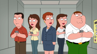 Thumbnail for Family Guy - There's a secretary looking for reassurance about her overly short haircut