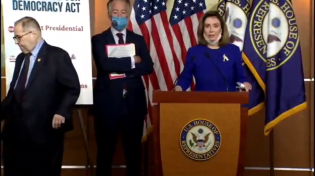Thumbnail for Time To Retire - Jerry Nadler Awkwardly Hobbling Off Stage During Pelosi's Press Briefing, People Suggest That He Pooped Himself