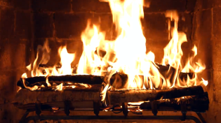 Thumbnail for Birchwood Crackling Fireplace [4K Ultra HD]