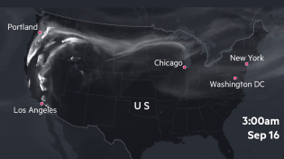 Thumbnail for US fires smoke map Sep. 14-17 2020
