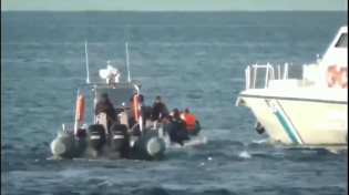 Thumbnail for Turkish government official passed on this video, purportedly taken this morning at 0730, allegedly showing Greek Coast Guard menacing Welfare Freeloader Muslims off the coast of Lesbos